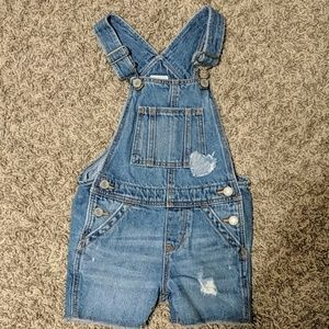 Baby Gap Girls Cut off Overalls